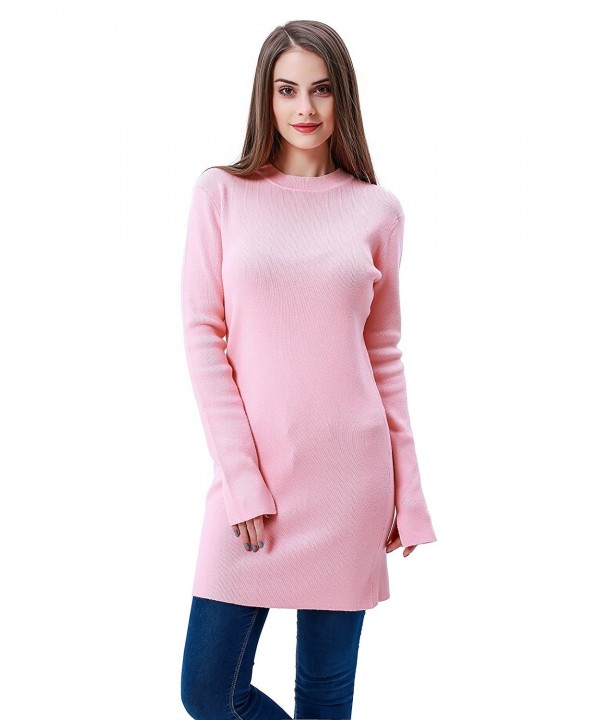 MEEFUR Round Neck Pullover Stretchy Knitwear