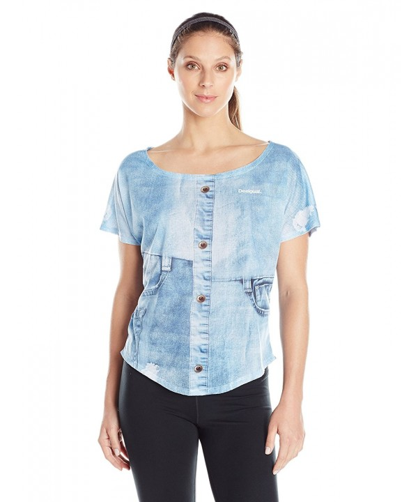Desigual Womens Cotton Oversized T Shirt