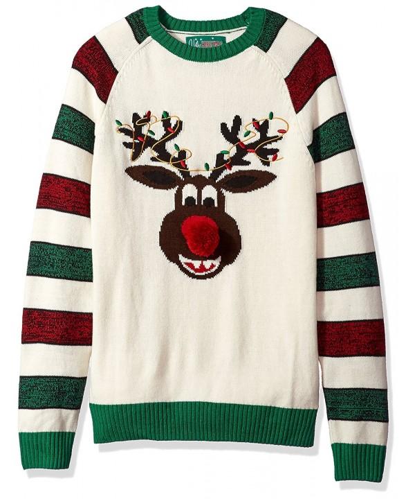Ugly Christmas Sweater Reindeer Cream