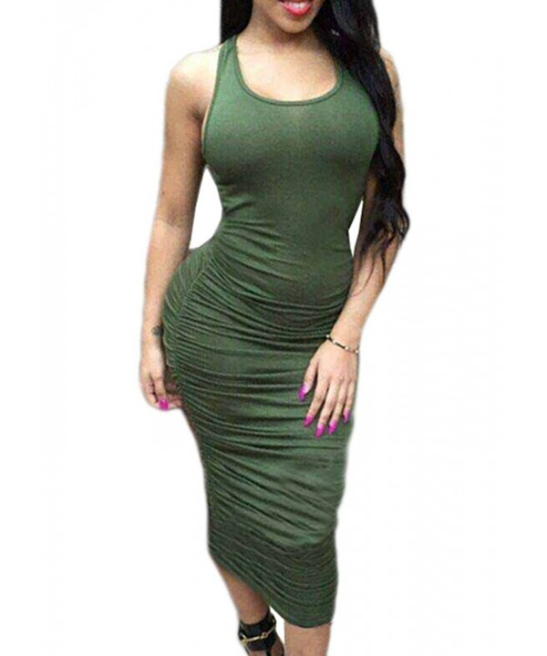 Meledy Sleeveless Stretch Sundress Bodycon