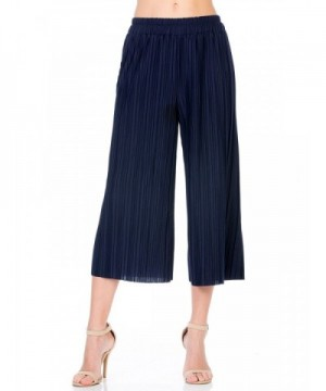 Elastic Accordion Pleated Culottes XL