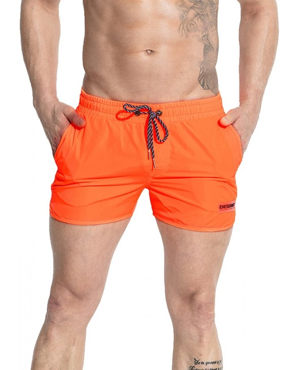 Neleus Runner Swimming Pockets Orange1