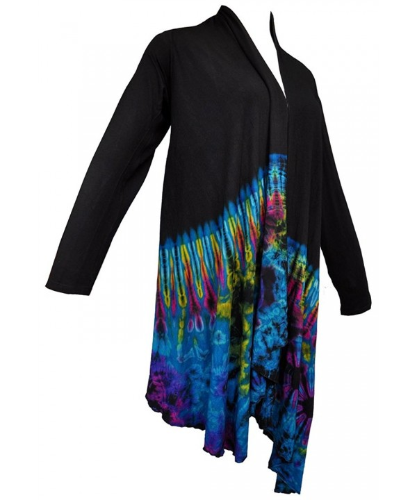 Amazing Grace Womens Tie Dye Cardigan