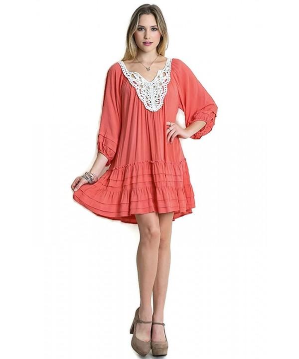 Umgee Womens Ruffle Tunic Dress