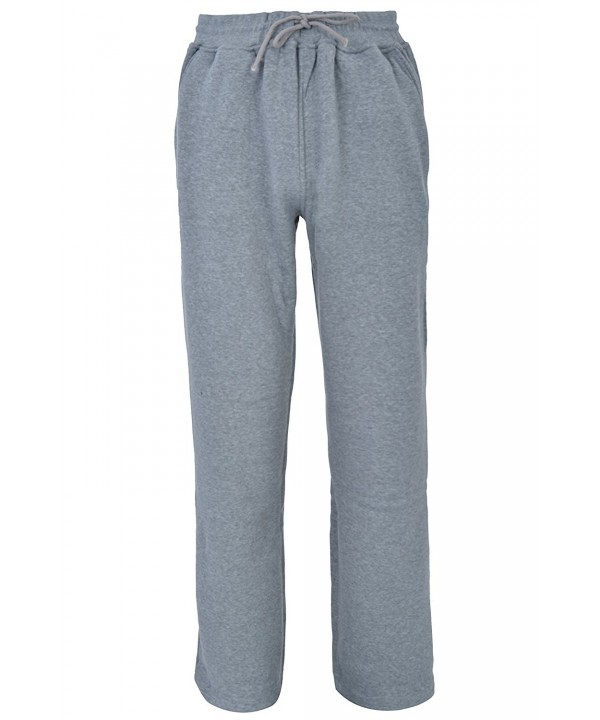 Fleece Sweatpants Straight Cotton Charcoal