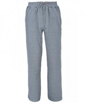 Fleece Sweatpants Straight Cotton Charcoal
