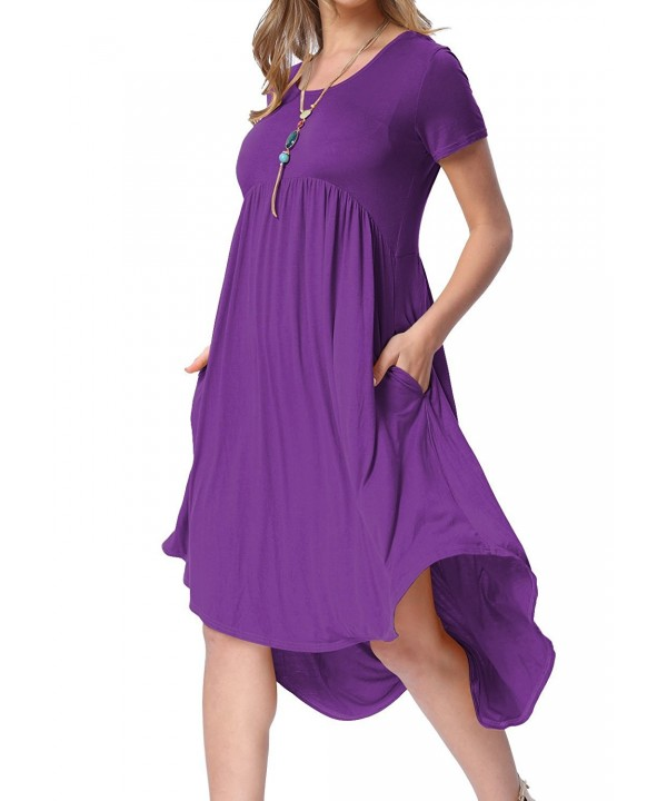 Womens Summer Sleeve Casual Flared