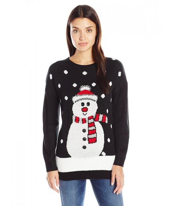 Notations Womens Christmas Sweater Snowman