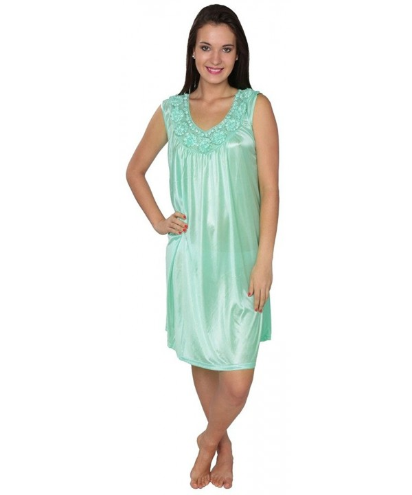 Womens Tricot Sleeveless Nightgown FUF035
