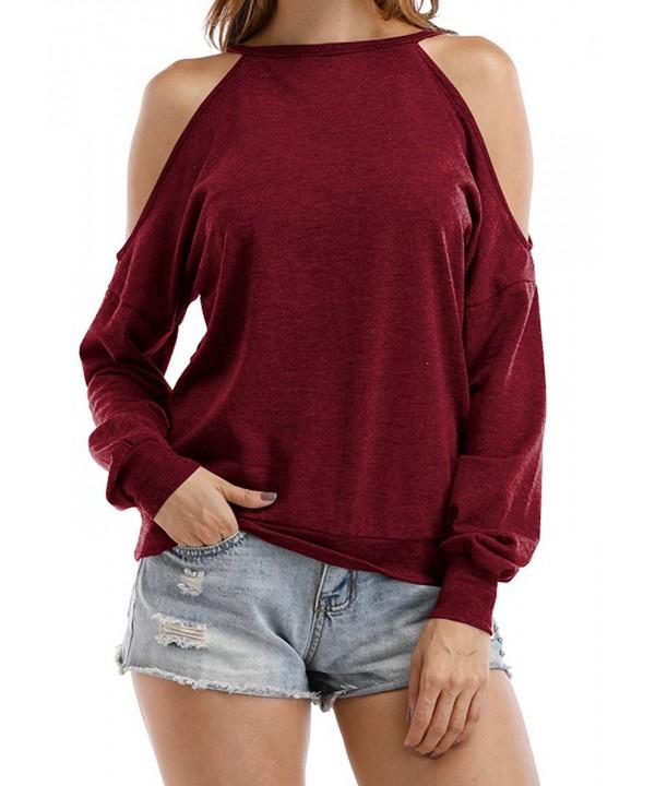 Sarin Mathews Shoulder Sweatshirts Burgundy