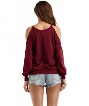 76d411a1673d5 Available. Sarin Mathews Shoulder Sweatshirts Burgundy  Brand Original  Women s ...