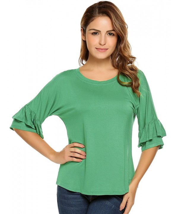 Zeagoo Womens Ruffle Sleeve Blouse