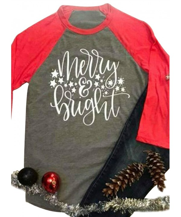 JINTING Christmas Splicing Baseball T Shirt