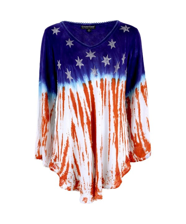 Stars Stripes Sleeve American Tunic