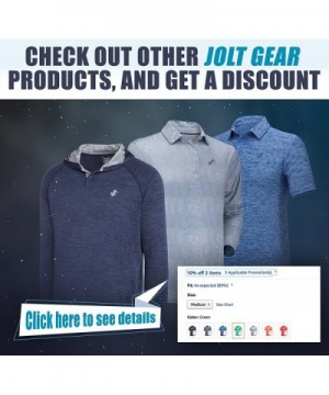 1beca267 Available. Jolt Gear Dri Fit Golf Shirts; Designer Men's Active Shirts  Clearance ...