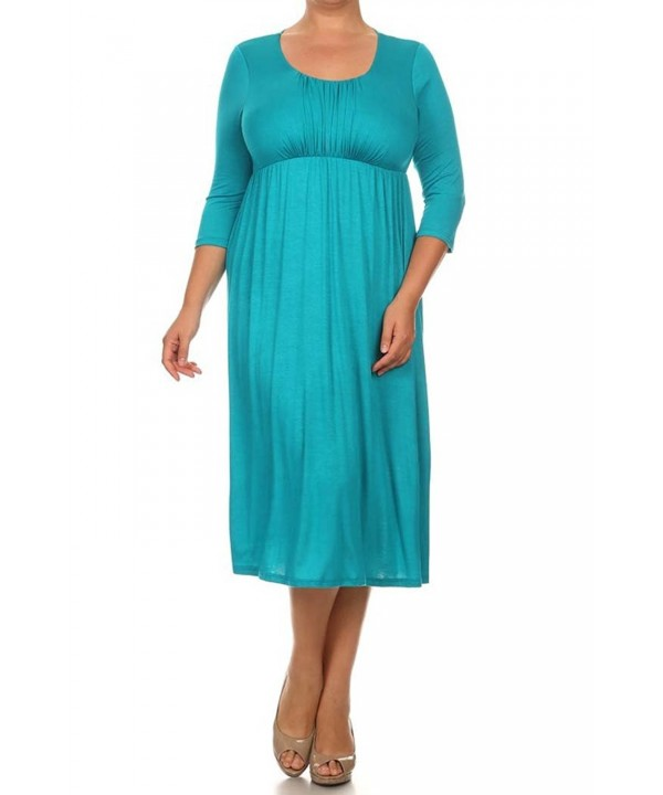 Womens Sleeve Cinched Relaxed TURQUOISE