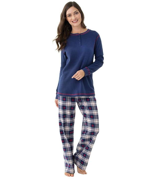 PajamaGram Womens Flannel Pajama Set
