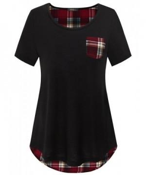 Vafoly Casual Pokcet Womens T Shirt