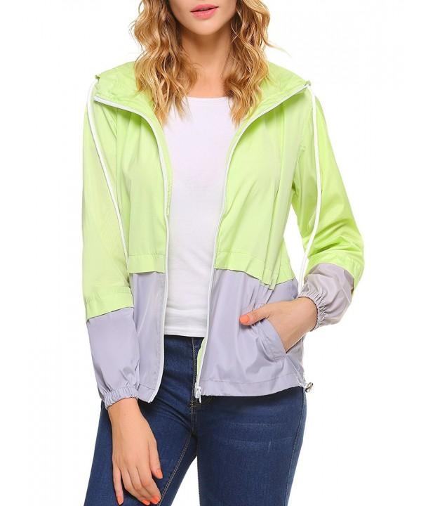 iClosam Waterproof Lightweight Raincoat B Yellow