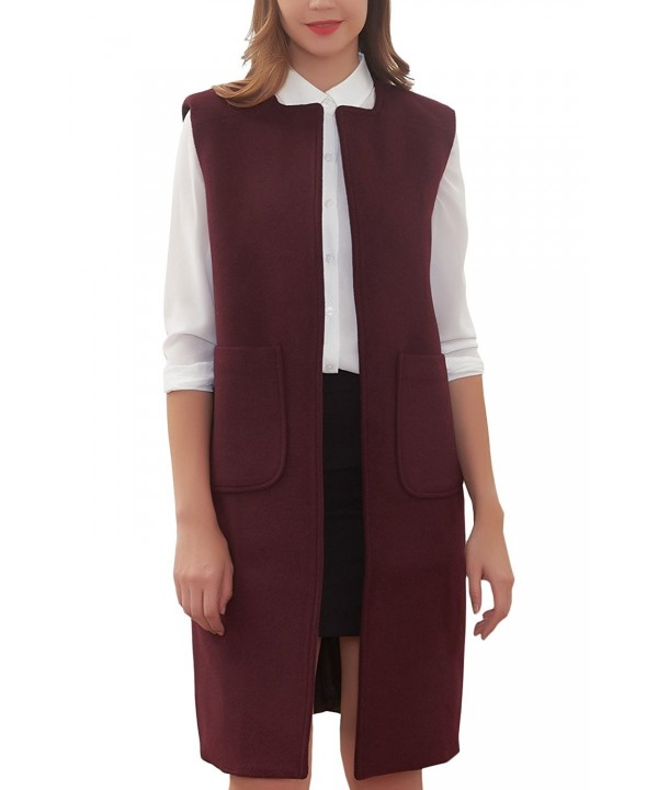 Hanayome Womens Jacket Trench Sleeveless