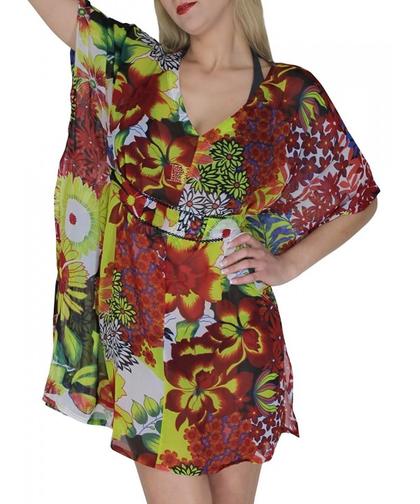 Beachwear Swimsuit Swimwear Printed Caftan