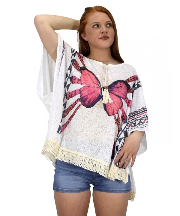 Peach Couture Butterfly Tasseled Cardigan