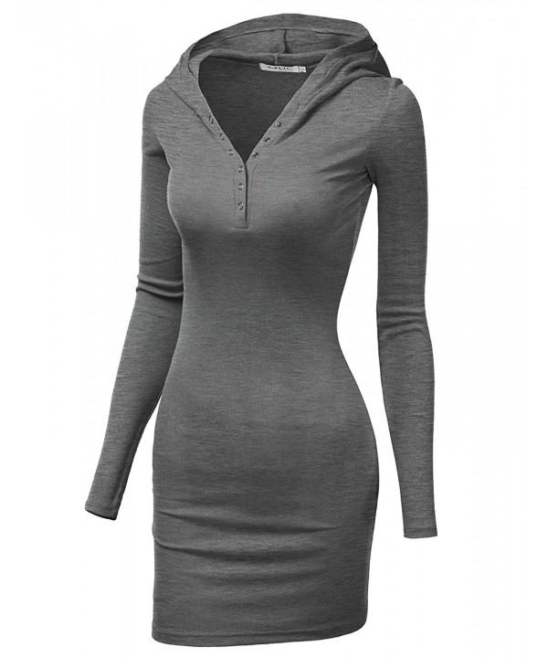 Doublju Womens Lightweight Dress HeatherGray