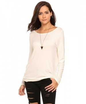 Zeagoo Casual Batwing Backless White S