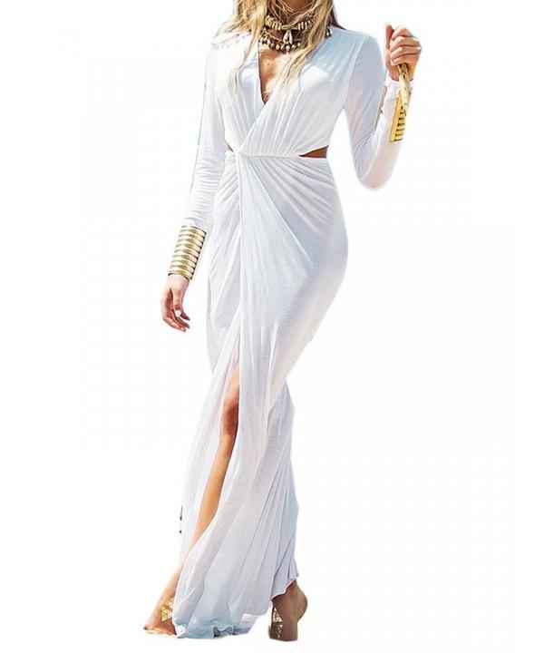Clothink Women White Front Split