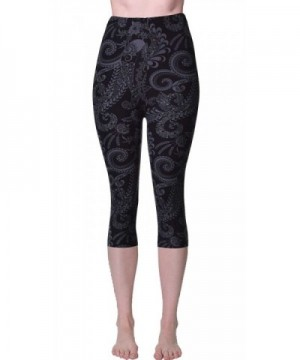 Printed Brushed Capris Shadowy Beauty