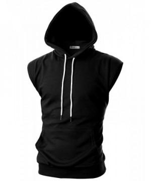 Ohoo Sleeveless Lightweight Hoodie DCF014 BLACK XL