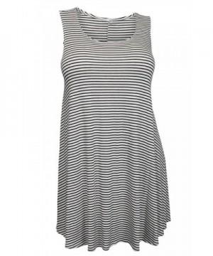 eVogues Stripe Print Sleeveless Dress
