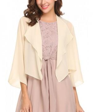 Venena Womens Sleeve Chiffon Cardigan