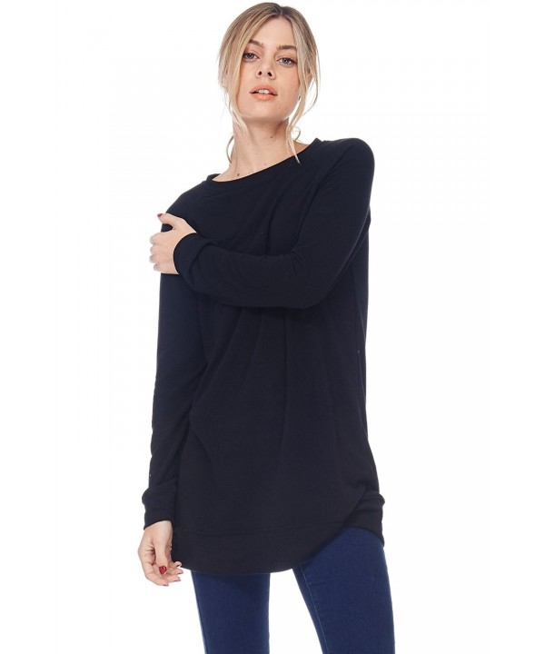 Womens Casual Terry Loose Sweatshirt