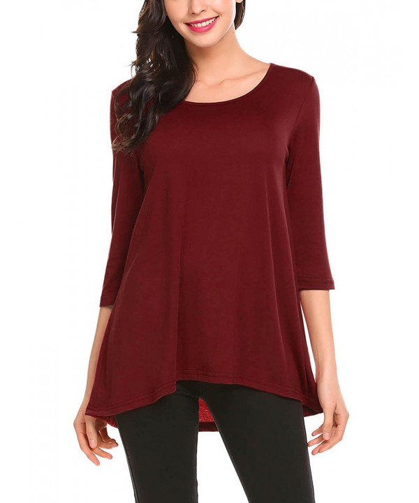 Mofavor Womens Sleeve Pleated Casual