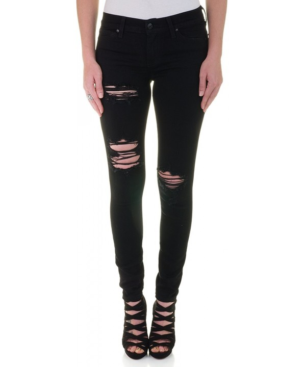 Eunina Destructed Distress Stretch Jeans