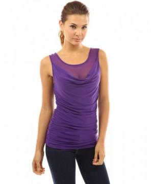 PattyBoutik Womens Scoop Blouse Purple