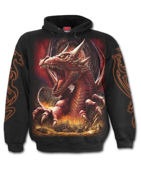 Spiral Mens Awake Dragon Hoody