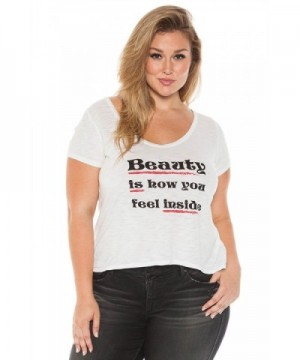 SLINK Jeans Womens Plus T Shirt