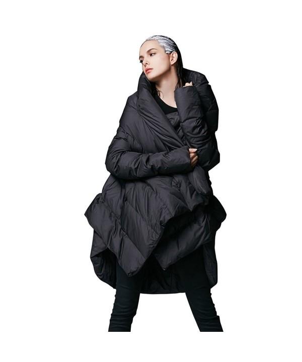 Womens Winter Jacket Cloak FM1618 Black XL