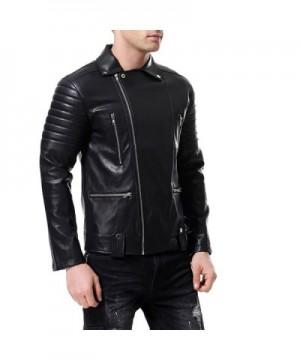 Discount Men's Faux Leather Coats Clearance Sale
