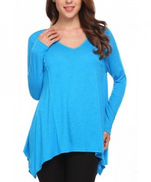 Women Raglan Sleeves Irregular Asymmetrical