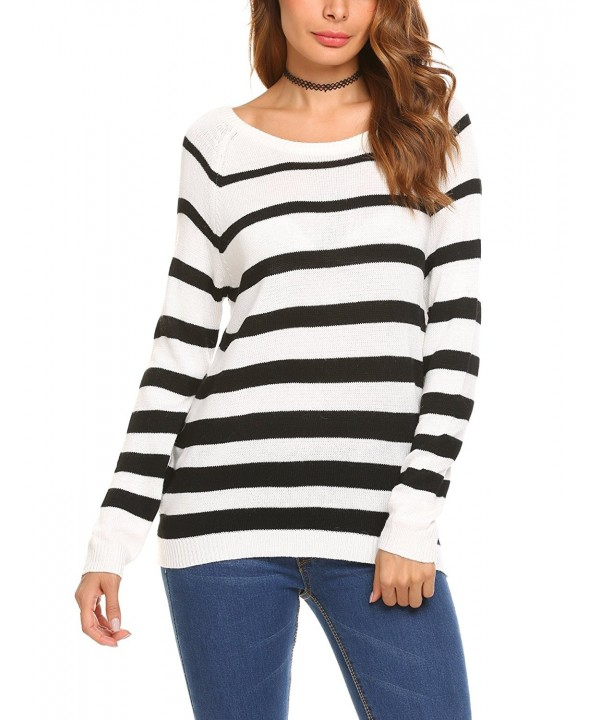 Billti Womens Sweater Striped Pullover