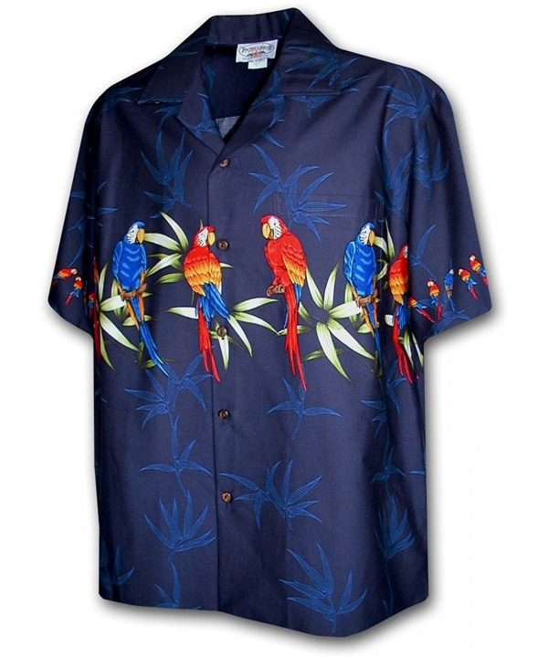 Cotton Hawaiian Shirts Parrot 440 3636