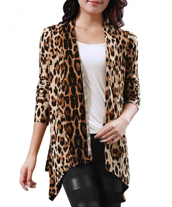 Allegra Leopard Sleeve Boyfriend Cardigan