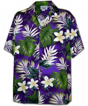 Tropical Monstera Hawaiian Shirt Purple