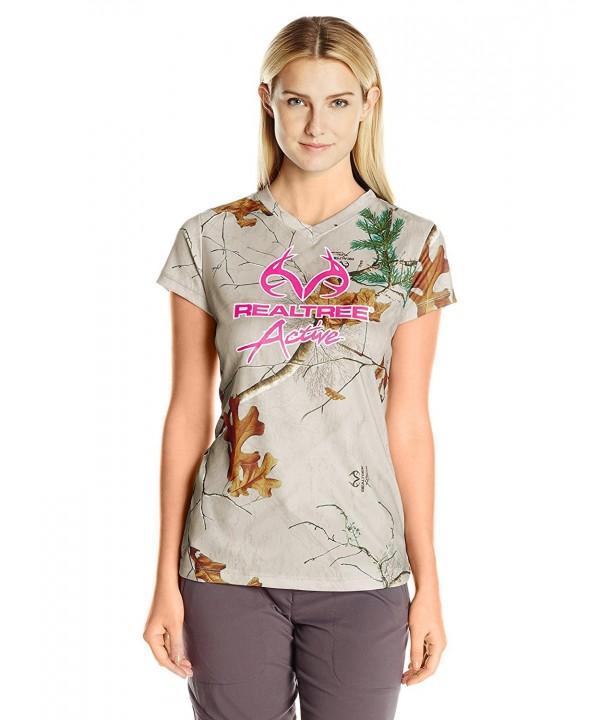Realtree Womens Sleeve Performance T Shirt