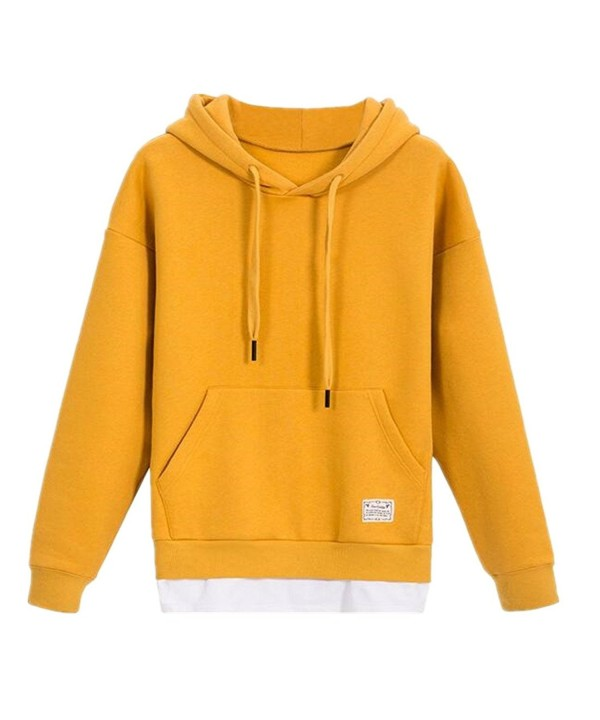 ForeMode Hoodies Hooded Sweatshirt Yellow
