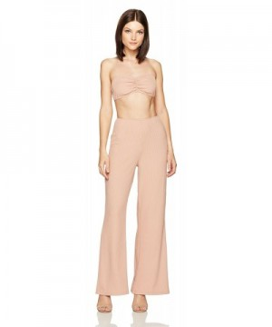 Velvet Rope Womens Ribbed Jumpsuit