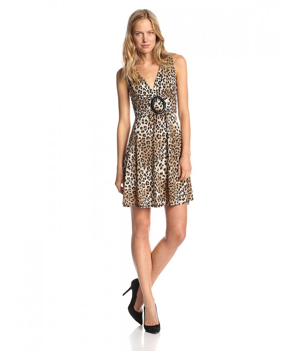 Star Vixen Womens Sleeveless Leopard